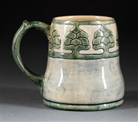 mug (decorated by ada wilt lonnegan) by newcomb college pottery