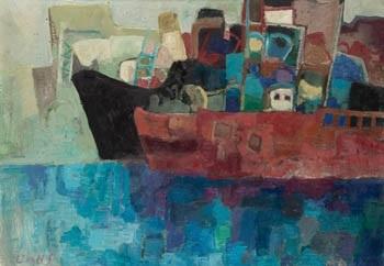 barcos en el puerto by maría antonia dans