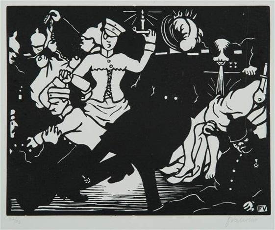 c'est la guerre (6 works) by félix edouard vallotton