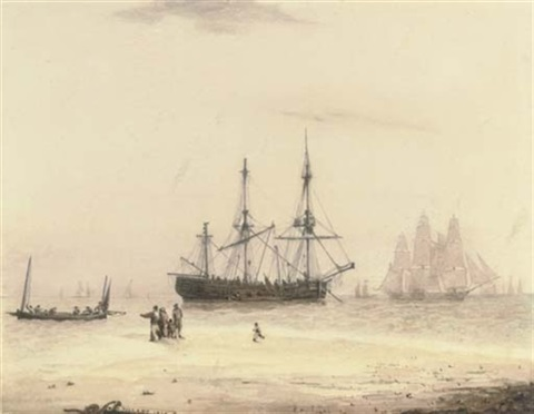 a busy day on the estuary by r. pillans