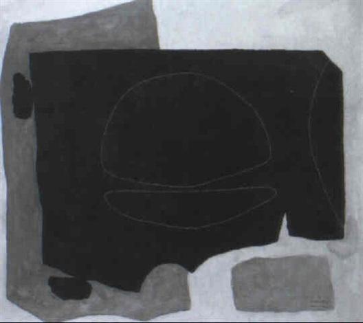 komposition in schwarz und gelb by hans laabs