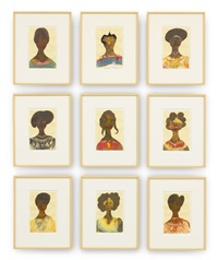 untitled (nine works) by chris ofili