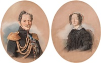 portrait of prince alexei fedorovich orlov (+ portrait of princess olga alexandrovna orlov; 2 works) by friedrich randel