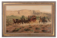 marfa stagecoach holdup by joe ruiz grandee