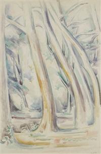 sous-bois aux grands arbres by andré lhote