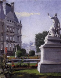 tuileries gardens, the louvre, paris by john wycliffe lewis forster