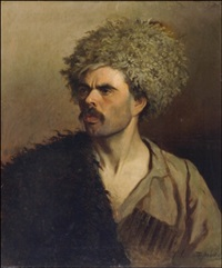 mies kasakkahatussa (man with cossack hat) by stephan fedorovich alexandrovski