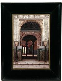 el patio del alcázar de sevilla by f. liger hidalgo