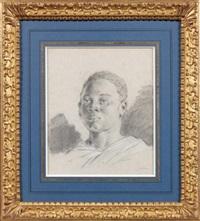 jeune noir de gorée en buste by pierre ozanne