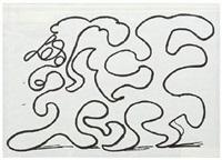 white lines dancing in printing ink (v. ii) by david hockney