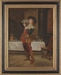 gentleman in a tavern by jefferson david chalfant