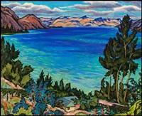 okanagan lake from peachland by james (jock) williamson galloway macdonald