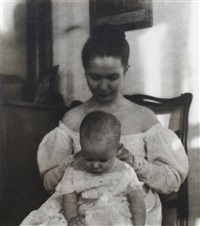 untitled, mother and child by nell dorr