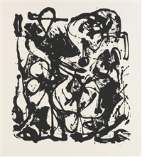untitled (suite of 6) by jackson pollock