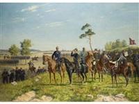 kaiser willhelm ii. zu pferde im manöver by carl röchling