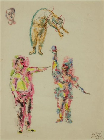 twirling man study by mark tobey