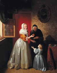 jeune fille à l'orange by willem joseph vertommen
