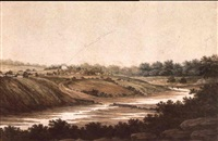 a view of the river at parramatta by george william evans