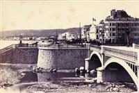 pont napoléon à l'embouchure du paillon by charles nègre