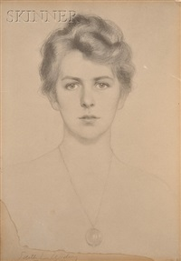 portrait of a woman by edith widing yaffee