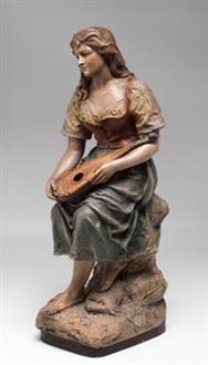 joven con mandolina by joseph le guluche