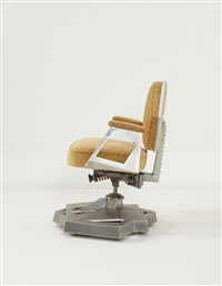 adjustable armchair (from the executive offices of the harold price co. tower, bartlesville, oklahoma) by frank lloyd wright