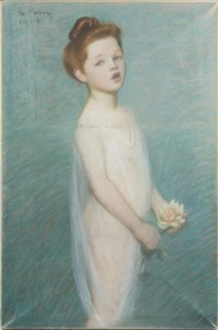 portrait of a standing child by lilla cabot perry
