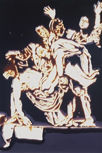 the descent from the cross, after caravaggio (from pictures of chocolate) by vik muniz