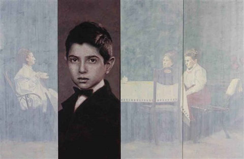 self portrait as a child in 4 parts by yz kami