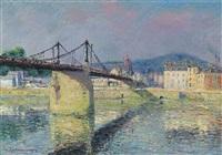 le pont suspendu d'elbeuf by gustave loiseau