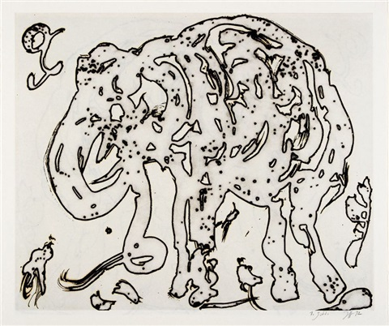elefant (2 works) by horst janssen