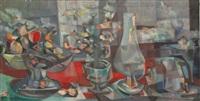 cubist still life 67 by john f. leonard