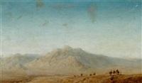 karavan med kameler by stan gustaf herman ankarcrona