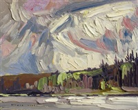 clouds over moore lake by arthur george lloy