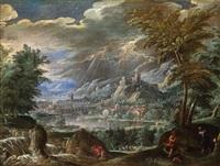 landschaft mit einer ansicht von verona by paolo fiammingo dei franceschi