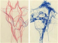 untitled (+ untitled; 2 works) by eva hesse