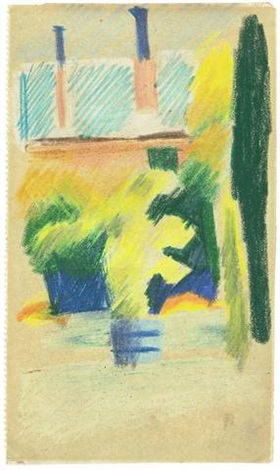 haus im garten from sketchbook by august macke