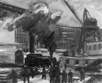 the train yard by harry t. fisk