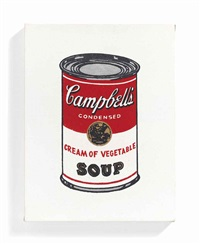 campbell's coup can, cream of vegetable by richard pettibone