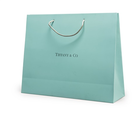 THE WEDDING PRESENT TIFFANY CO. SHOPPING BAG by Jonathan Seliger ...