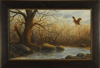 woodcock in flight by william p. tyner