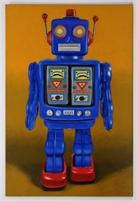 blue robot - homenaje juguetes ensueño by omar mañueco