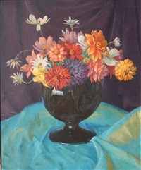 floral still-life by abel george warshawsky