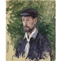 portrait d'eugène lamy, en buste by gustave caillebotte