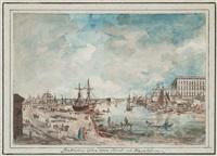 vue af stockholm ifrån gl. arsenalen (vue of stockholm) by johan fredrik martin