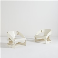 sessel armchairs, model no. 4801, designed (pair) by joe colombo