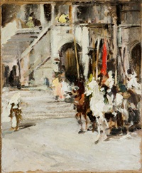 cavalieri verso il torneo by lorenzo delleani