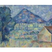 landscape with mountain by anna aleksandrovna leporskaya
