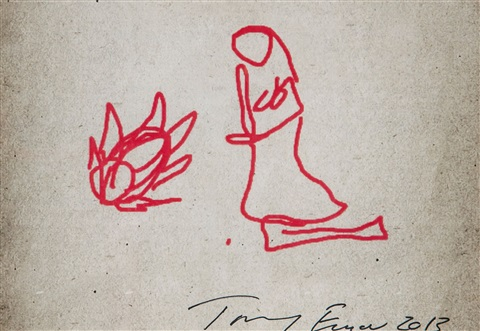 i pad drawings (5 works) by tracey emin