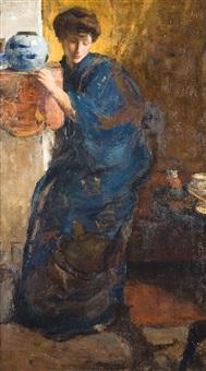 dame à la robe bleue by walter vaes